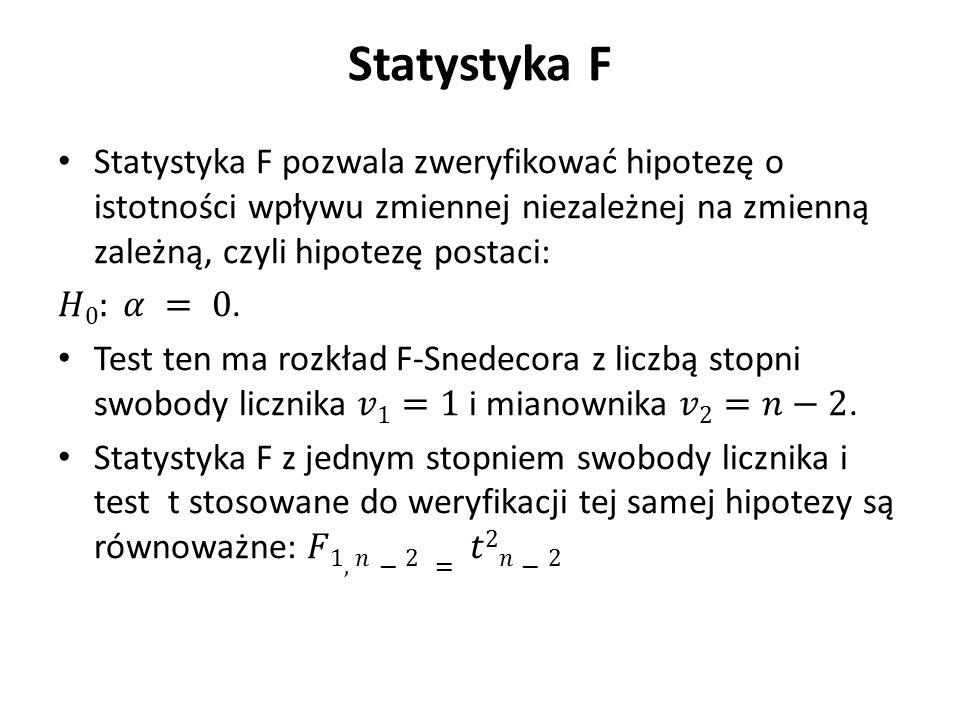 Statystyka F