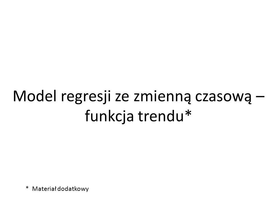 Model regresji ze zmienną czasową – funkcja trendu* * Materiał dodatkowy