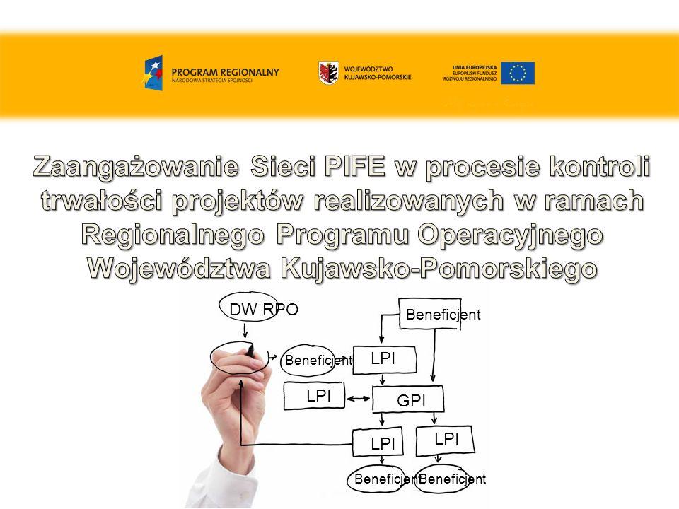Monitorowane projekty – podział dla LPI i GPI 8