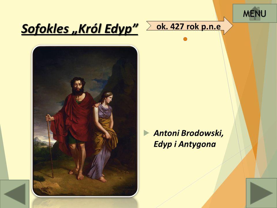 KREACJA EDYPA  Edyp, syn króla Teb zostaje dotknięty klątwą Bogów.