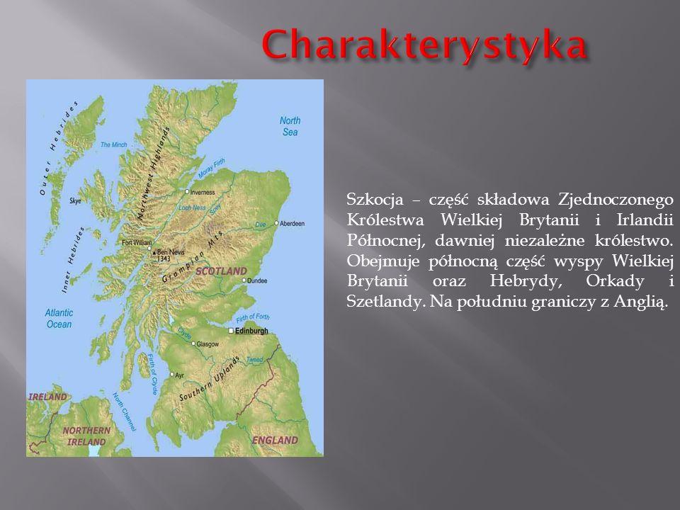 Szkocja – część składowa Zjednoczonego Królestwa Wielkiej Brytanii i Irlandii Północnej, dawniej niezależne królestwo. Obejmuje północną część wyspy W