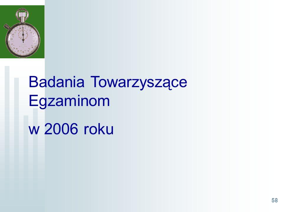 58 Badania Towarzyszące Egzaminom w 2006 roku