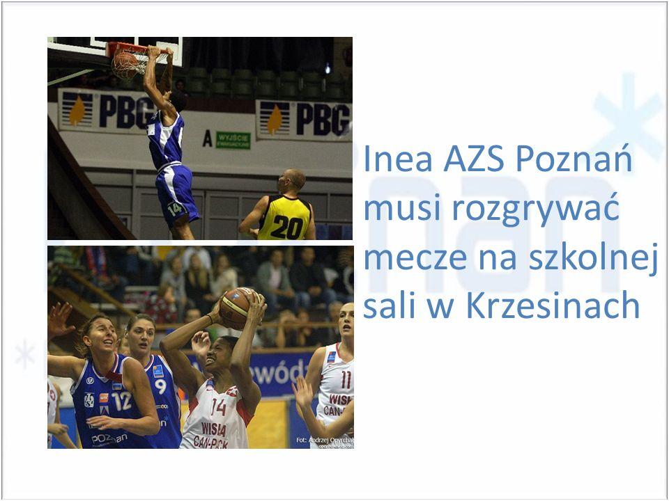 Inea AZS Poznań musi rozgrywać mecze na szkolnej sali w Krzesinach