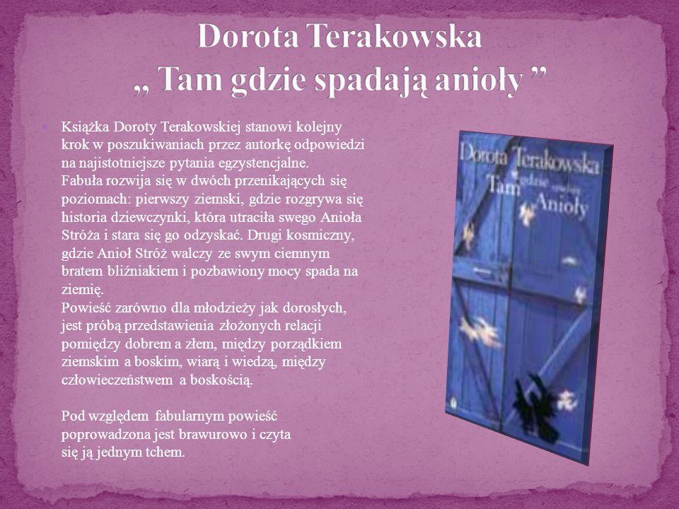 Książka Doroty Terakowskiej stanowi kolejny krok w poszukiwaniach przez autorkę odpowiedzi na najistotniejsze pytania egzystencjalne. Fabuła rozwija s
