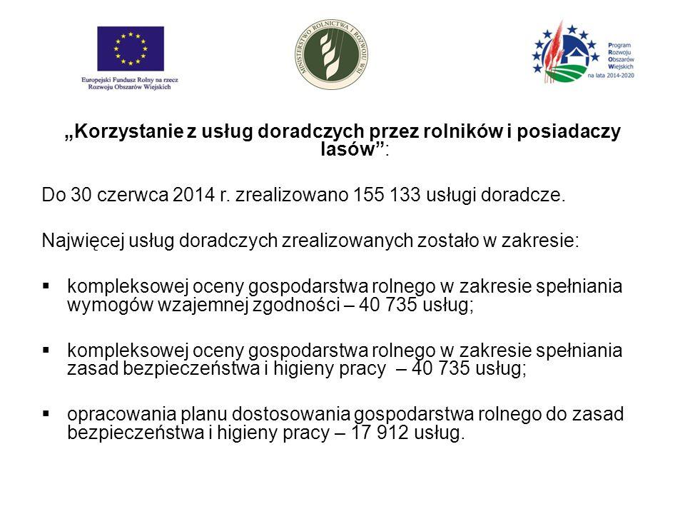 """""""Korzystanie z usług doradczych przez rolników i posiadaczy lasów : Do 30 czerwca 2014 r."""