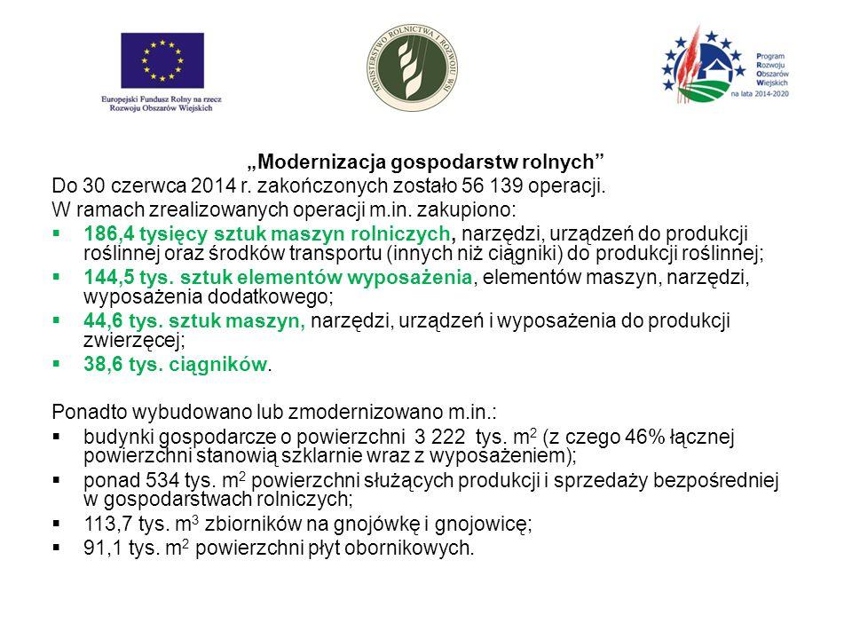 """""""Modernizacja gospodarstw rolnych Do 30 czerwca 2014 r."""