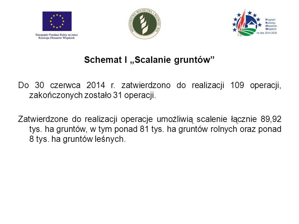 """Schemat I """"Scalanie gruntów Do 30 czerwca 2014 r."""