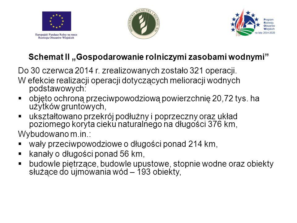"""Schemat II """"Gospodarowanie rolniczymi zasobami wodnymi Do 30 czerwca 2014 r."""