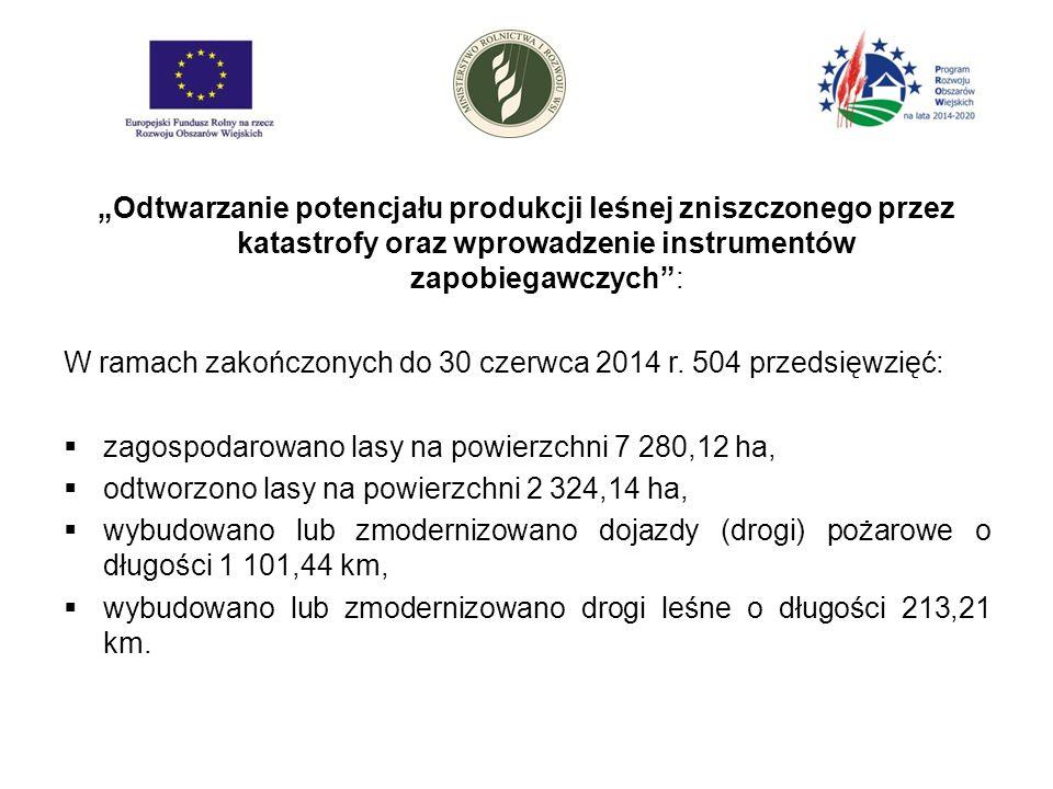 """""""Odtwarzanie potencjału produkcji leśnej zniszczonego przez katastrofy oraz wprowadzenie instrumentów zapobiegawczych : W ramach zakończonych do 30 czerwca 2014 r."""