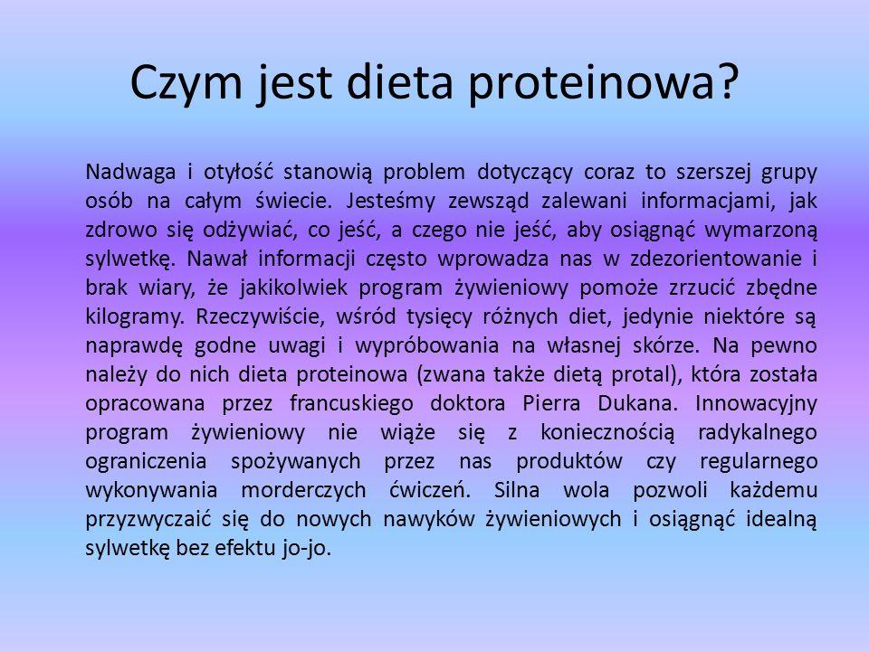 Czym jest dieta proteinowa.