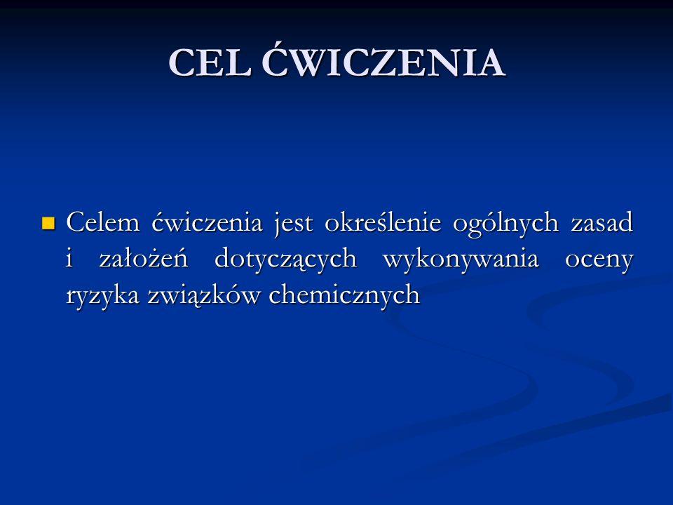 ETAPY OCENY RYZYKA OCENA ZALEŻNOŚCI DAWKA – ODPOWIEDŹ:  bada się zależność pomiędzy dawką (ilością) związku chemicznego, a wielkością niepożądanego działania związku chemicznego na organizm.