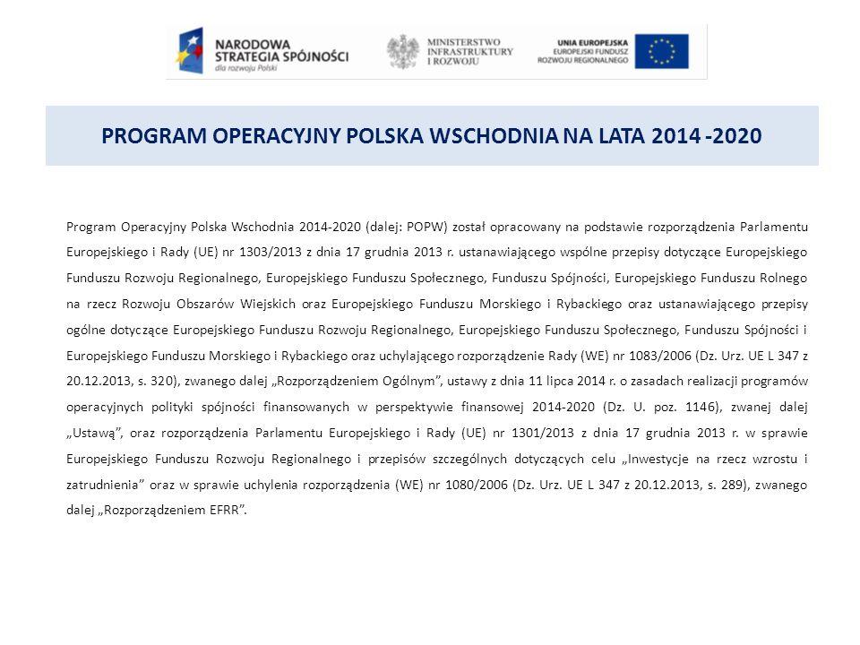 PROGRAM OPERACYJNY POLSKA WSCHODNIA NA LATA 2014 -2020 DZIAŁANIE 1.3 PONADREGIONALNE POWIĄZANIA KOOPERACYJNE PODDZIAŁANIE 1.3.2 Tworzenie sieciowych produktów przez MŚP Każdy projekt będzie obejmować łącznie: 1.