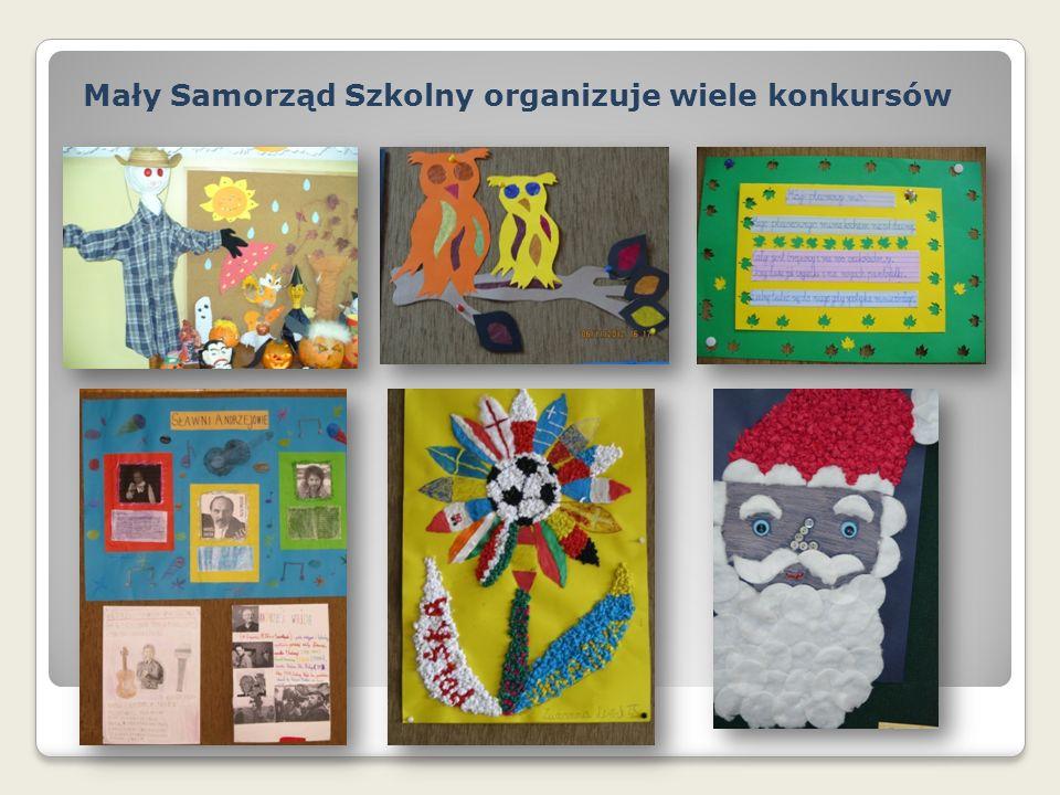 Mały Samorząd Szkolny organizuje wiele konkursów