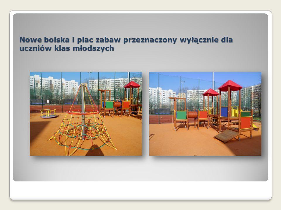 Nowe boiska i plac zabaw przeznaczony wyłącznie dla uczniów klas młodszych