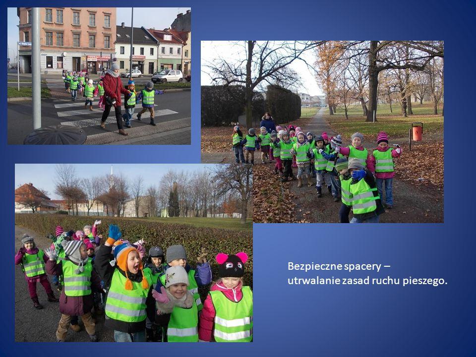 Bezpieczne spacery – utrwalanie zasad ruchu pieszego.