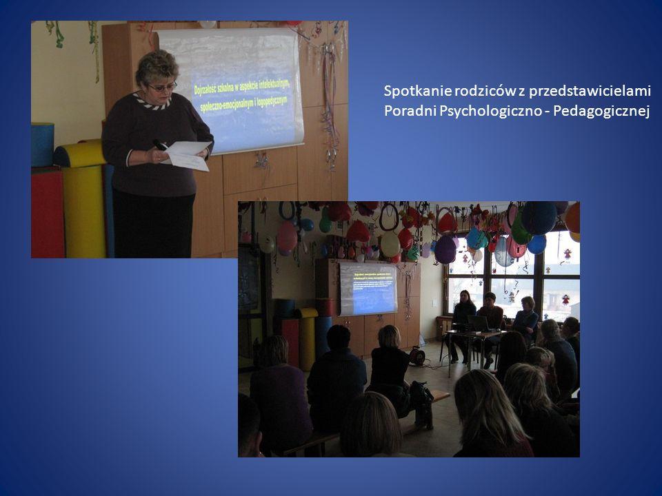 Spotkanie rodziców z przedstawicielami Poradni Psychologiczno - Pedagogicznej