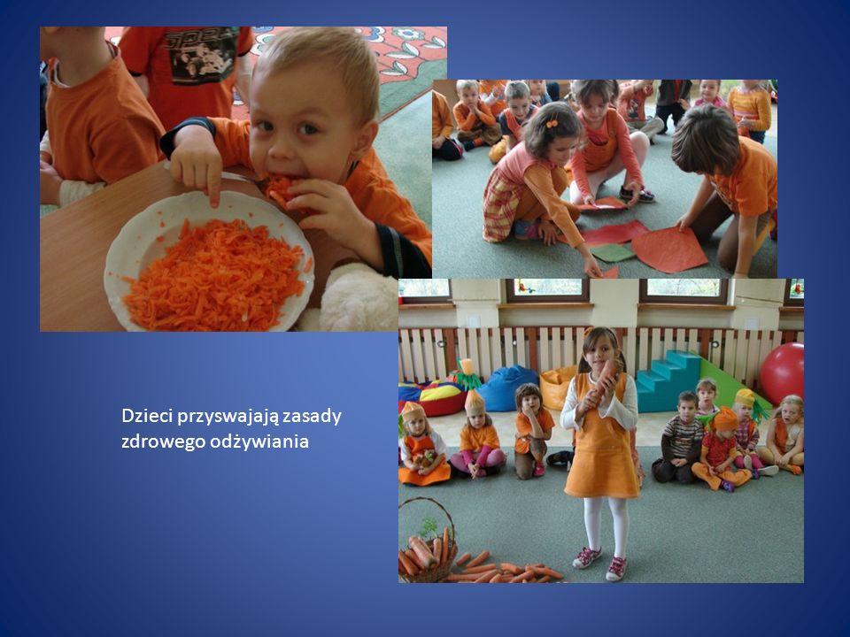 Dzieci przyswajają zasady zdrowego odżywiania