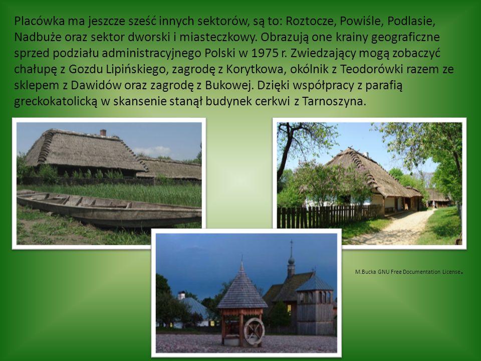 Placówka ma jeszcze sześć innych sektorów, są to: Roztocze, Powiśle, Podlasie, Nadbuże oraz sektor dworski i miasteczkowy.