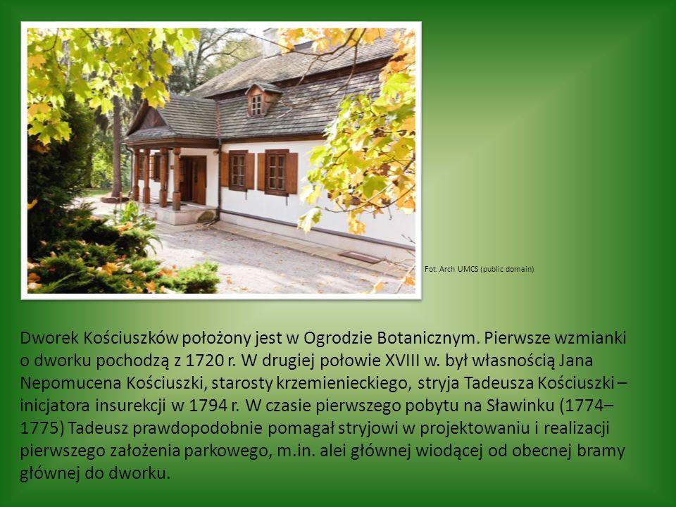 Fot. Arch UMCS (public domain) Dworek Kościuszków położony jest w Ogrodzie Botanicznym.