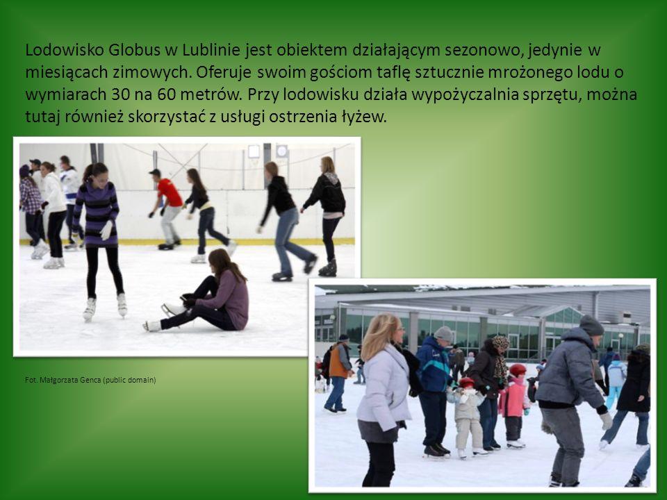 Lodowisko Globus w Lublinie jest obiektem działającym sezonowo, jedynie w miesiącach zimowych.