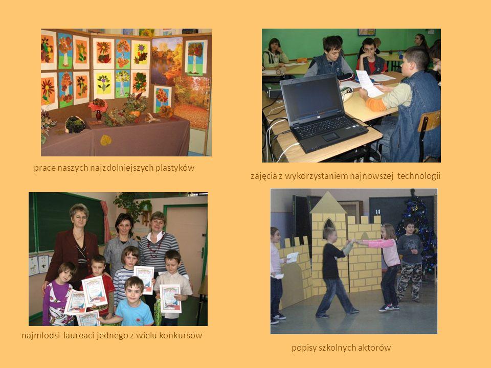 prace naszych najzdolniejszych plastyków najmłodsi laureaci jednego z wielu konkursów zajęcia z wykorzystaniem najnowszej technologii popisy szkolnych
