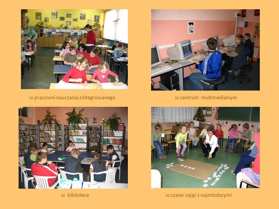 w pracowni nauczania zintegrowanegow centrum multimedialnym w bibliotecew czasie zajęć z najmłodszymi