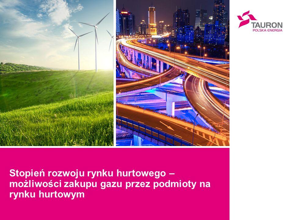 Stopień rozwoju rynku hurtowego – możliwości zakupu gazu przez podmioty na rynku hurtowym
