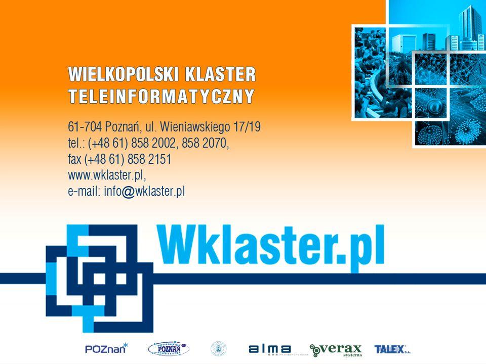 Raporty – dostępne na www.wklaster.pl w wersji polskiej i ang.www.wklaster.pl