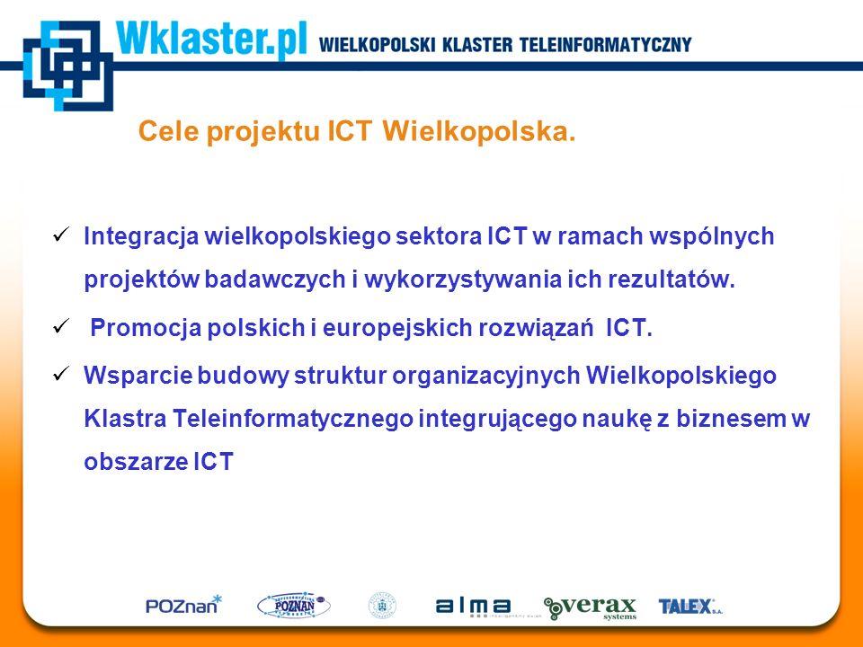 Cele projektu ICT Wielkopolska. Integracja wielkopolskiego sektora ICT w ramach wspólnych projektów badawczych i wykorzystywania ich rezultatów. Promo
