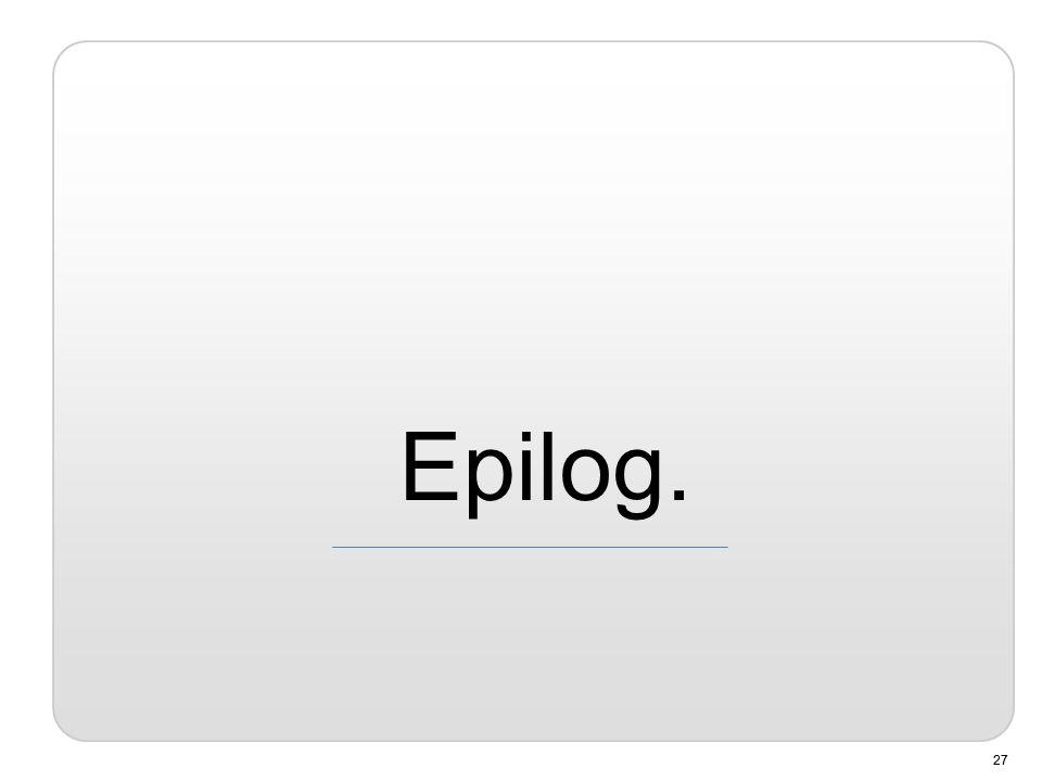 27 Epilog.