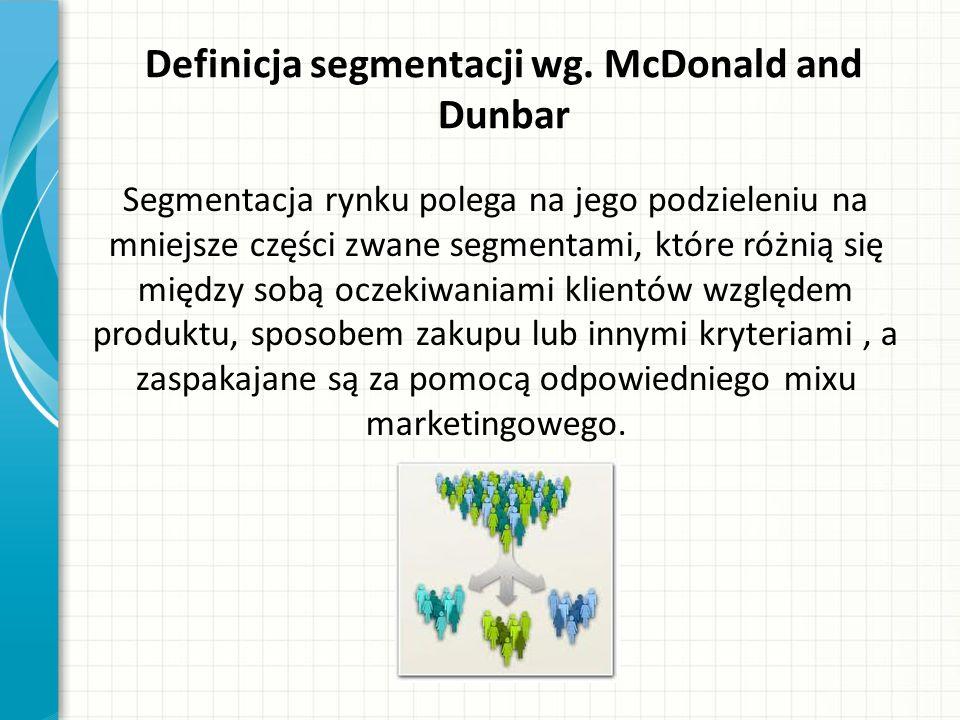 Definicja segmentacji wg.