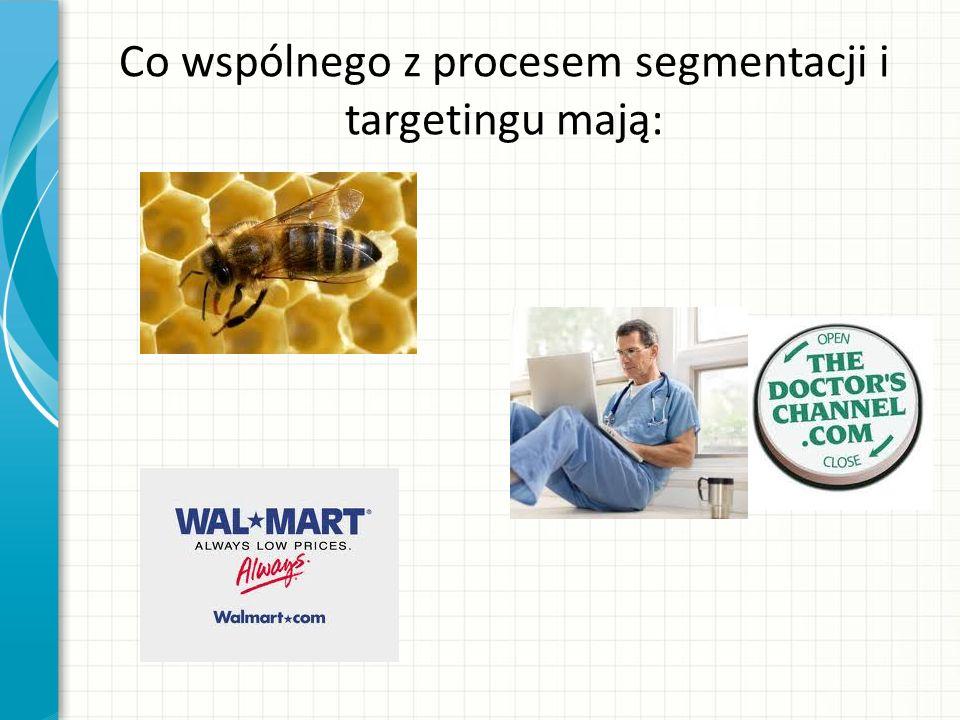 Co wspólnego z procesem segmentacji i targetingu mają: