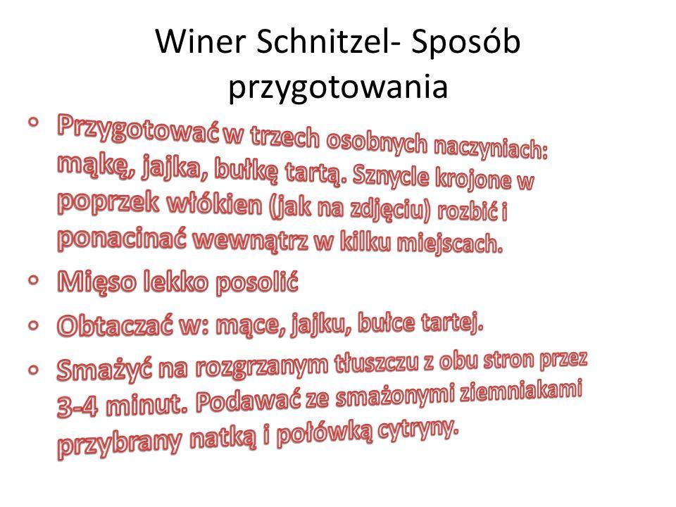 Winer Schnitzel- Sposób przygotowania