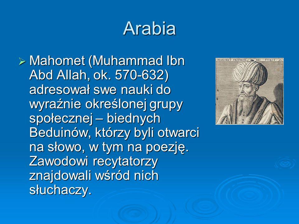 Arabia  Mahomet (Muhammad Ibn Abd Allah, ok.