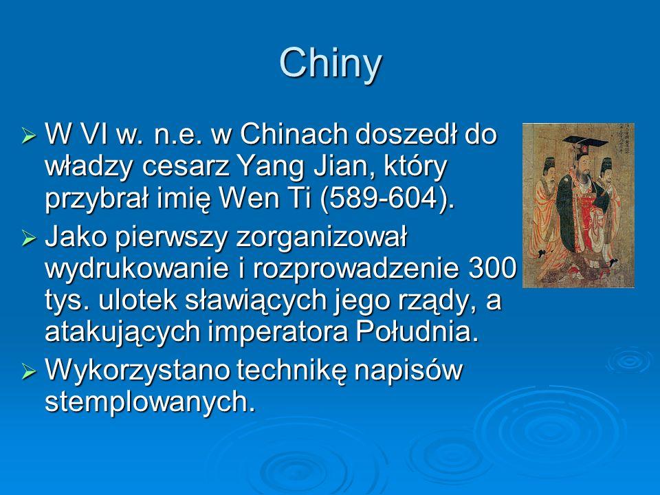 Chiny  W VI w. n.e.