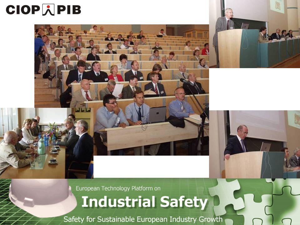 Technology Platform Safety for Sustainable European Industry Growth Wiedeń 4-5 maja 2006 Ponad 650 uczestników z 36 krajów Comissioner Janez Potocnik