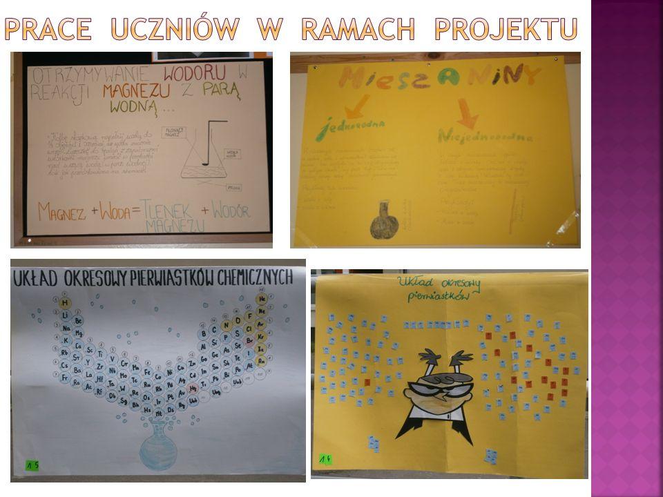 Uczeń:  opanował na dobrym poziomie posługiwanie się szkłem i sprzętem laboratoryjnym  rozwinął umiejętności w zakresie projektowania i przeprowadzania różnych reakcji chemicznych i syntez  nauczył się badać doświadczalnie właściwości wielu substancji  nabrał przekonania, że chemia to nauka potrzebna społeczeństwu, z którą stykamy się na co dzień