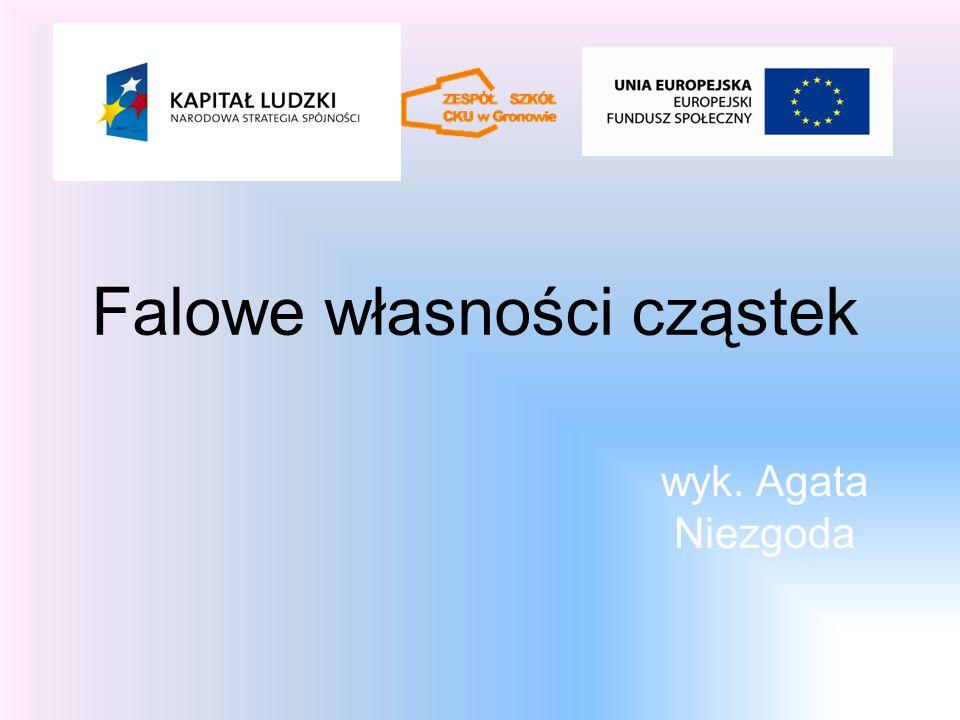 Literatura P. Walczak, G. F. Wojewoda, Fizyka i astronomia, cz. 3, wyd. OPERON, Gdynia 2007