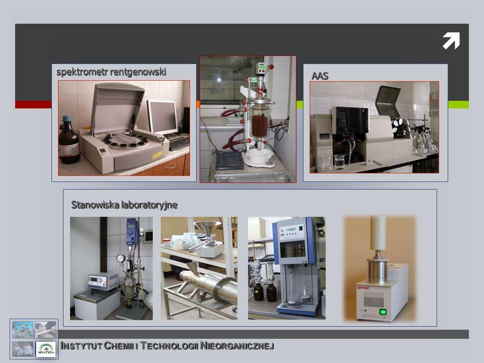 spektrometr rentgenowski AAS I NSTYTUT C HEMII I T ECHNOLOGII N IEORGANICZNEJ Stanowiska laboratoryjne