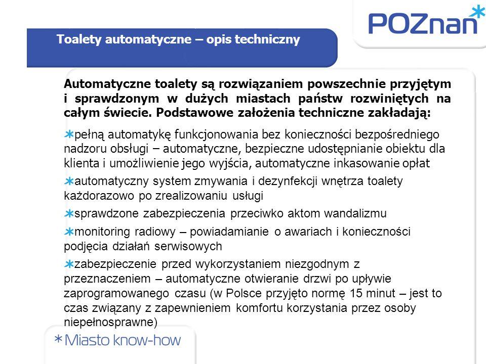 Hipotetyczne rozmieszczenie nowych toalet publicznych w Poznaniu W opracowaniu założono, że ustalenie konkretnego miejsca lokalizacji toalety publicznej wymaga zastosowania jednej z metod znanych na gruncie teorii lokalizacji obiektów usługowych.