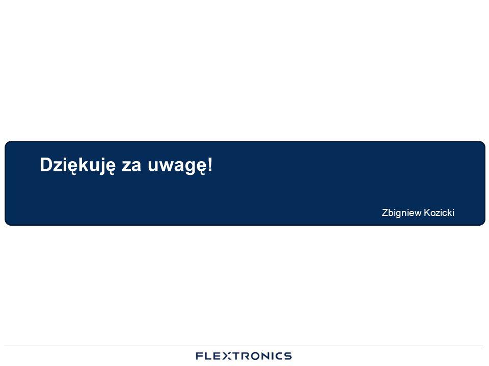 Dziękuję za uwagę! Zbigniew Kozicki