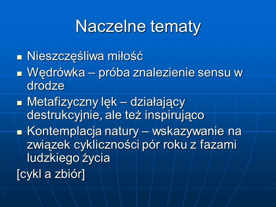 Źródła… Mieczysław Tomaszewski, Od wyznania do wołania.