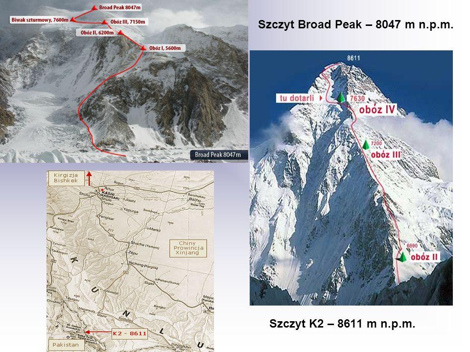 Szczyt Broad Peak – 8047 m n.p.m. Szczyt K2 – 8611 m n.p.m.