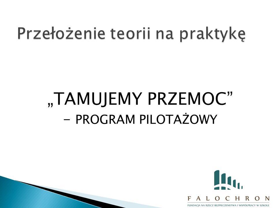 """""""TAMUJEMY PRZEMOC - PROGRAM PILOTAŻOWY"""