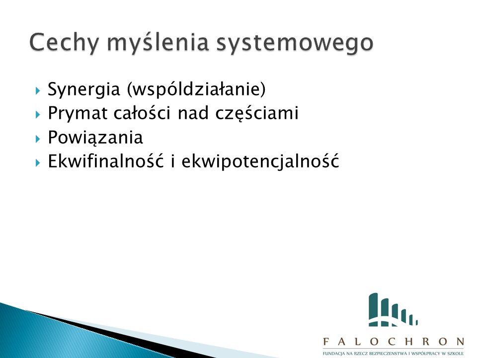  Synergia (wspóldziałanie)  Prymat całości nad częściami  Powiązania  Ekwifinalność i ekwipotencjalność