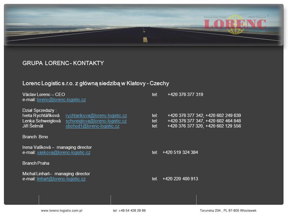 GRUPA LORENC - KONTAKTY Lorenc Logistic s.r.o.
