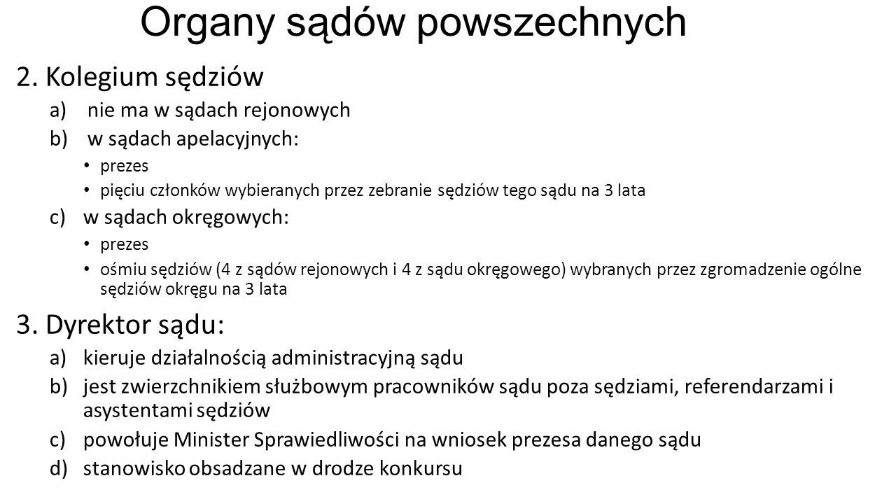 Organy sądów powszechnych 2.