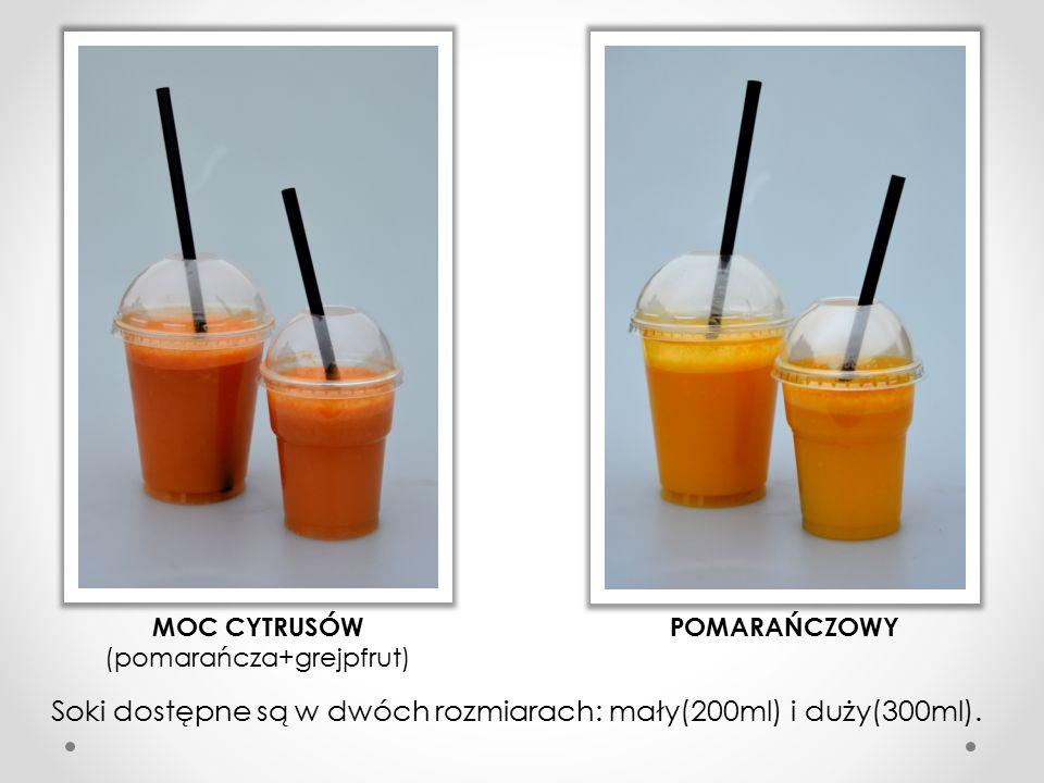 GREJPFRUTOWY FRUTTI (pomarańcza+jabłko) MULTI (pomarańcza+jabłko+marchew) JABŁKOWY GRUSIEPPE (pomarańcza+jabłko+gruszka)