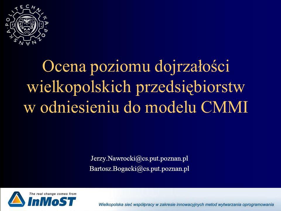 CMMI – Capability Maturity Model Integration 1.Początkowy 2.