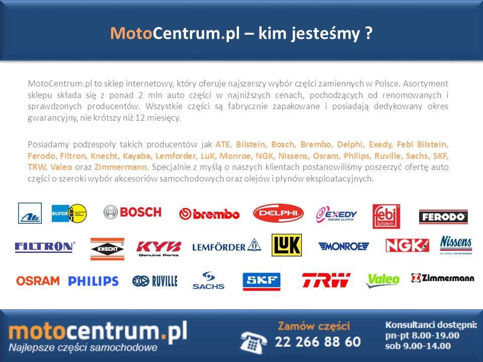 MotoCentrum.pl to sklep internetowy, który oferuje najszerszy wybór części zamiennych w Polsce.